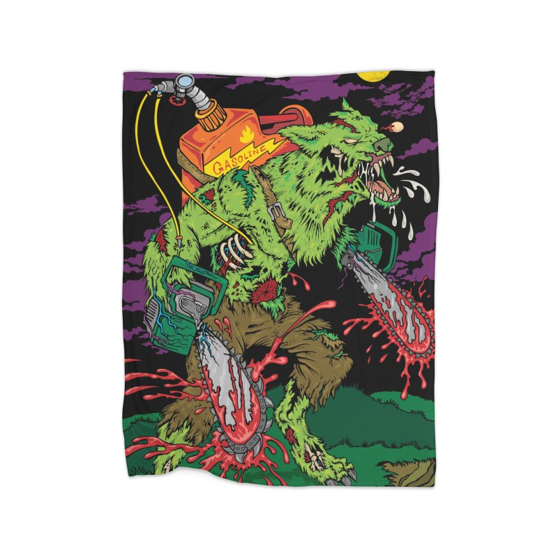 The Zombie Werewolf Home Fleece Blanket Blanket by Poisoning the Well Swag Shop