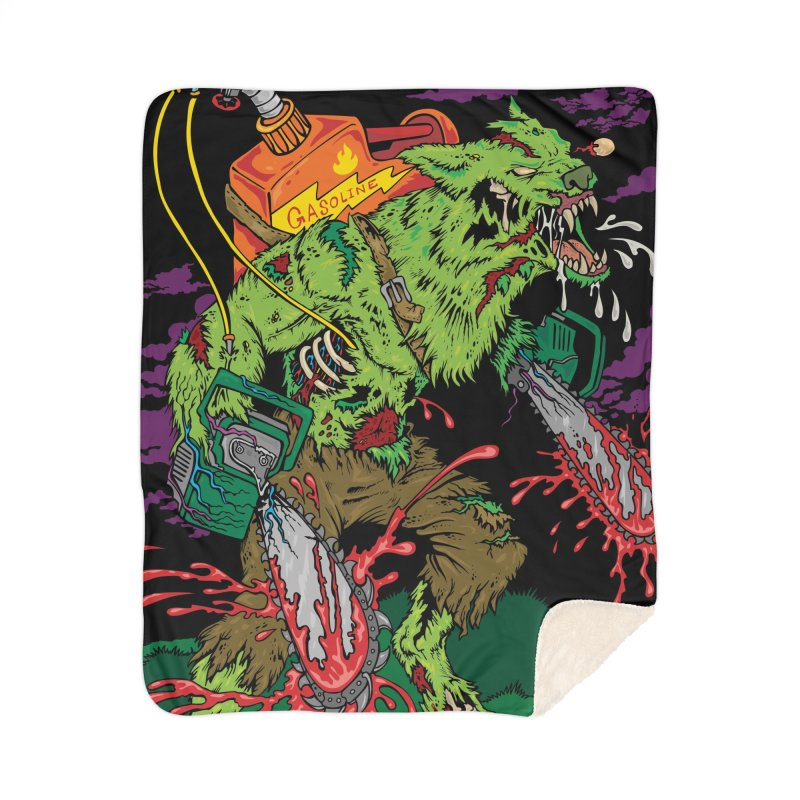 The Zombie Werewolf Home Sherpa Blanket Blanket by Poisoning the Well Swag Shop