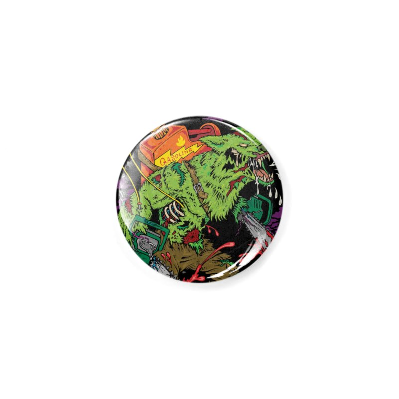 The Zombie Werewolf Accessories Button by Poisoning the Well Swag Shop