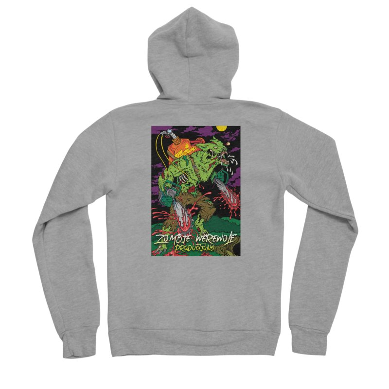 The Zombie Werewolf Men's Sponge Fleece Zip-Up Hoody by Poisoning the Well Swag Shop