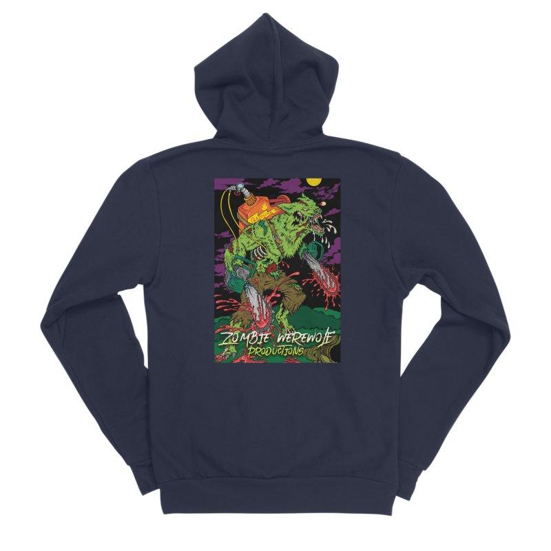 The Zombie Werewolf Men's Sponge Fleece Zip-Up Hoody by Poisoning the Well Swag Shop