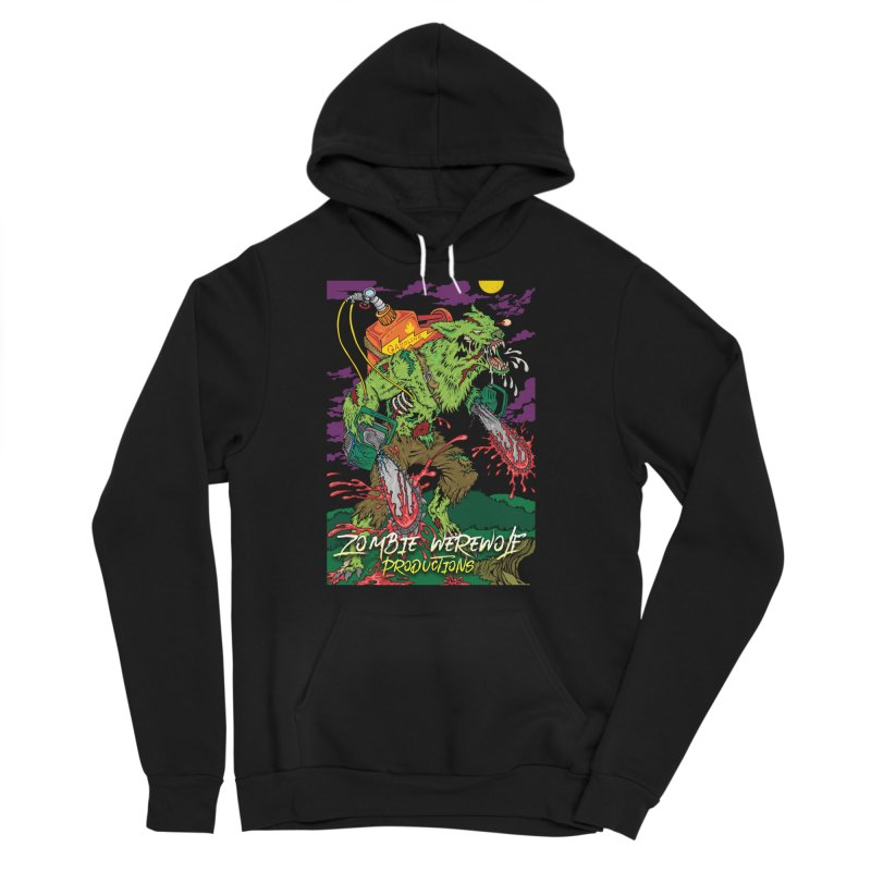 Zombie Werewolf Productions Men's Sponge Fleece Pullover Hoody by Poisoning the Well Swag Shop
