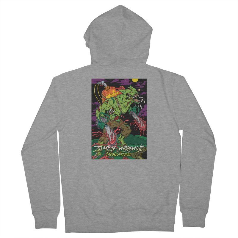 The Zombie Werewolf Women's French Terry Zip-Up Hoody by Poisoning the Well Swag Shop