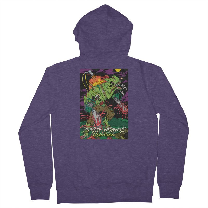 The Zombie Werewolf Men's French Terry Zip-Up Hoody by Poisoning the Well Swag Shop