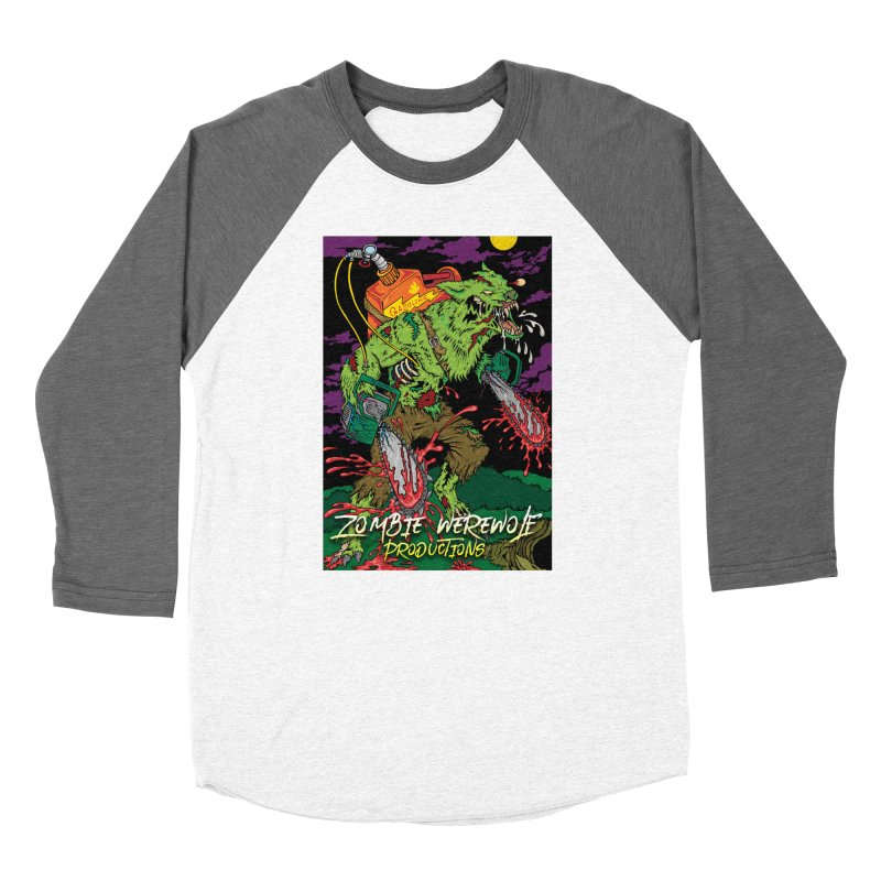 The Zombie Werewolf Women's Baseball Triblend Longsleeve T-Shirt by Poisoning the Well Swag Shop