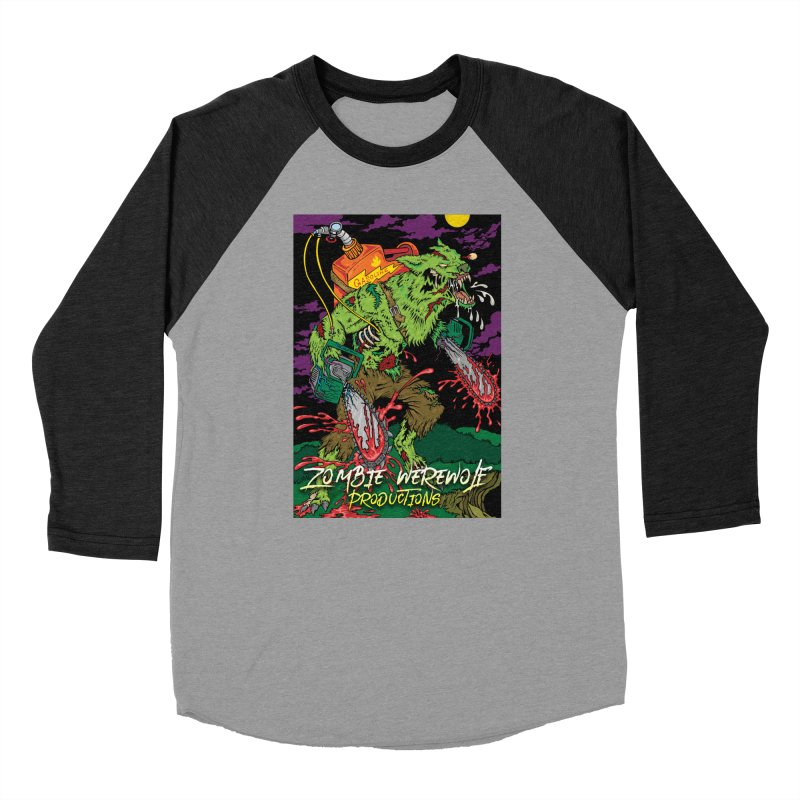 The Zombie Werewolf Men's Baseball Triblend Longsleeve T-Shirt by Poisoning the Well Swag Shop
