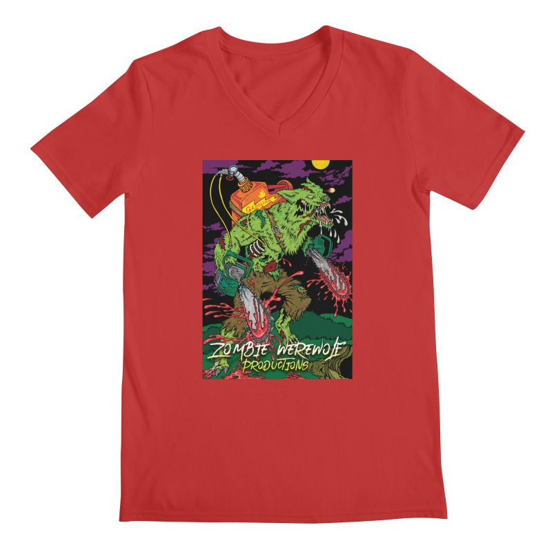 Zombie Werewolf Productions Men's Regular V-Neck by Poisoning the Well Swag Shop