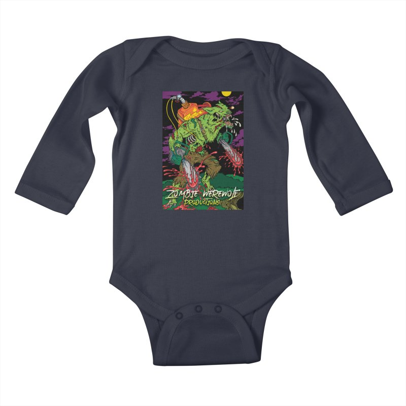 The Zombie Werewolf Kids Baby Longsleeve Bodysuit by Poisoning the Well Swag Shop