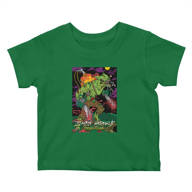 The Zombie Werewolf Kids Baby T-Shirt by Poisoning the Well Swag Shop