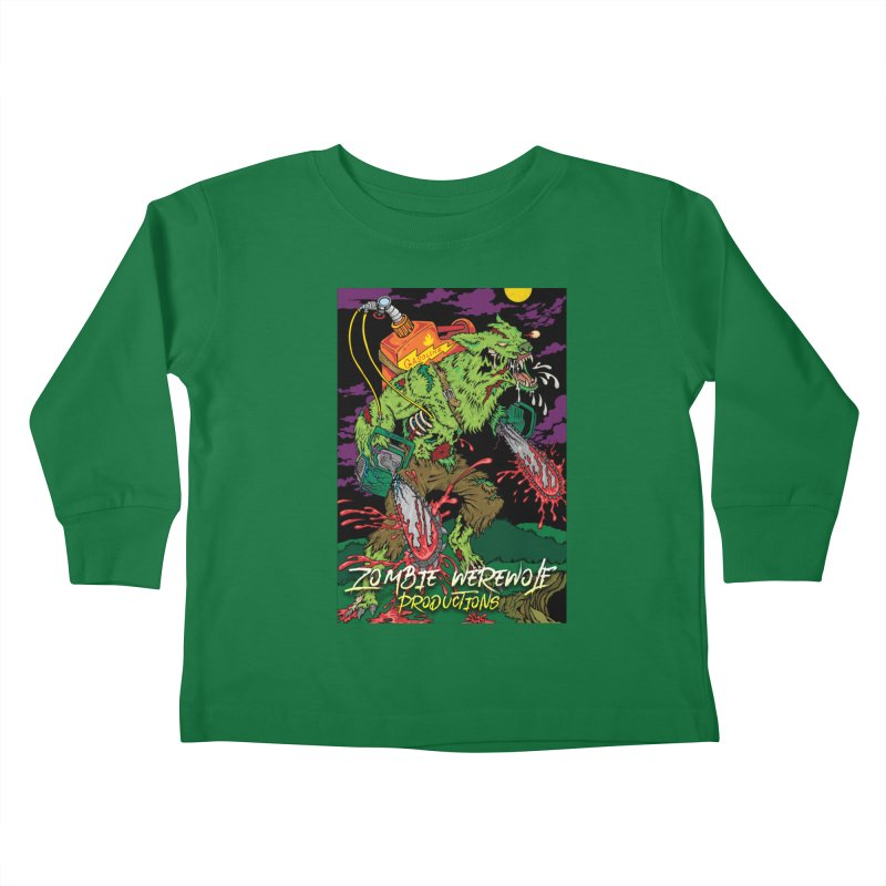 The Zombie Werewolf Kids Toddler Longsleeve T-Shirt by Poisoning the Well Swag Shop