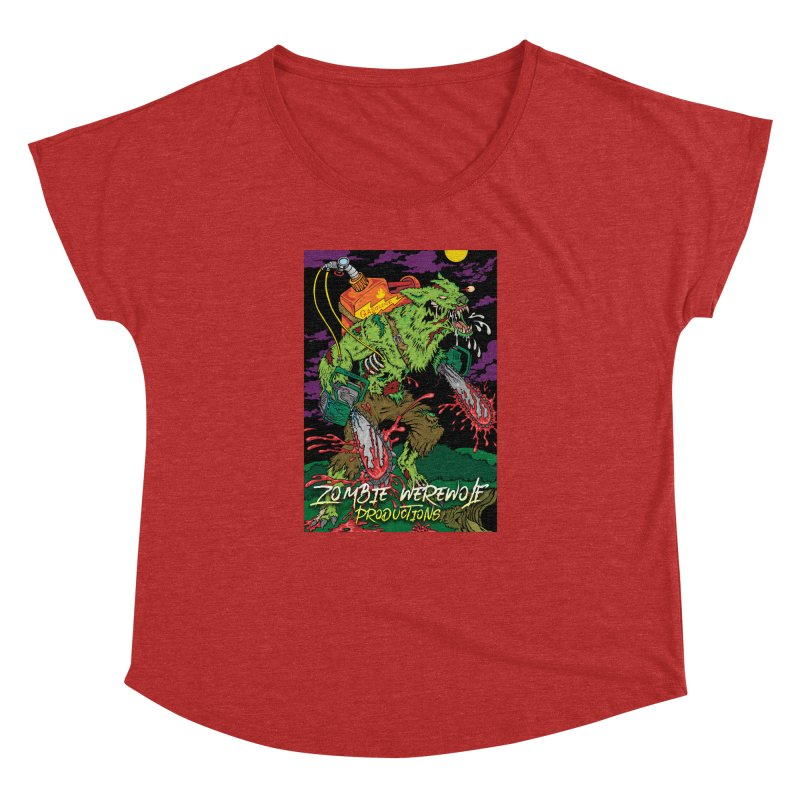 The Zombie Werewolf Women's Dolman Scoop Neck by Poisoning the Well Swag Shop