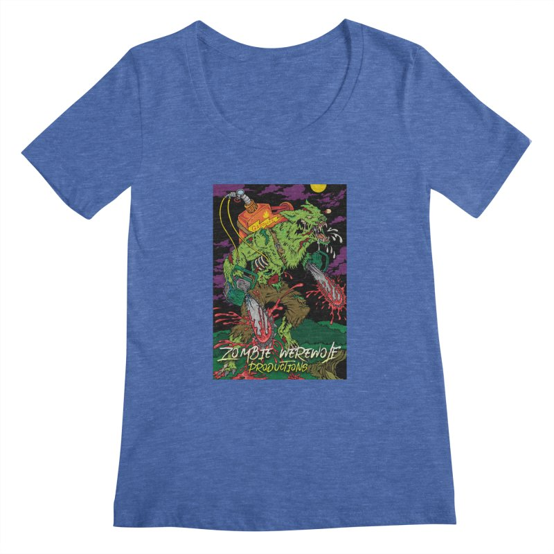 Zombie Werewolf Productions Women's Regular Scoop Neck by Poisoning the Well Swag Shop
