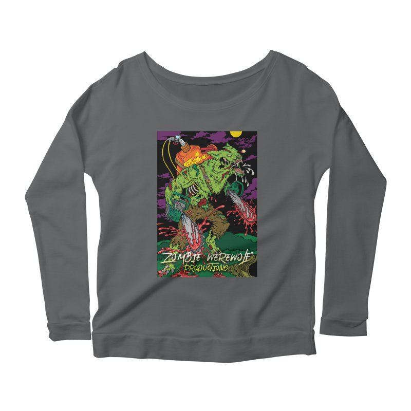 Zombie Werewolf Productions Women's Scoop Neck Longsleeve T-Shirt by Poisoning the Well Swag Shop