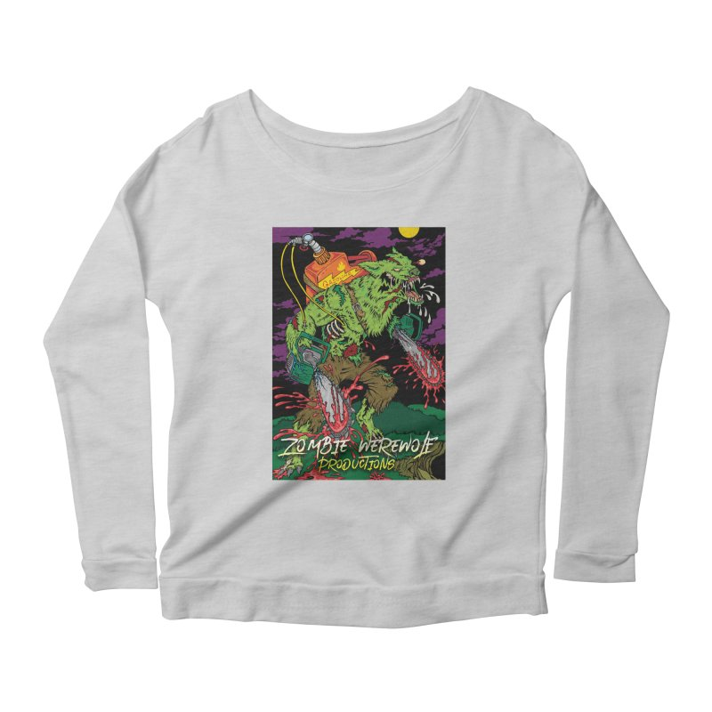 The Zombie Werewolf Women's Scoop Neck Longsleeve T-Shirt by Poisoning the Well Swag Shop