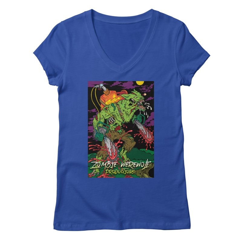 Zombie Werewolf Productions Women's Regular V-Neck by Poisoning the Well Swag Shop