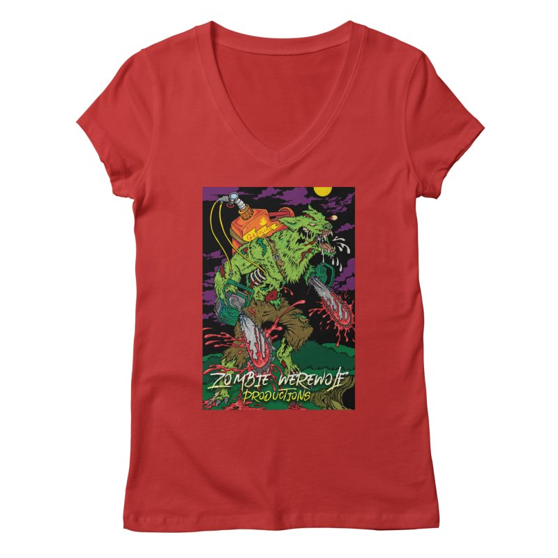 The Zombie Werewolf Women's Regular V-Neck by Poisoning the Well Swag Shop