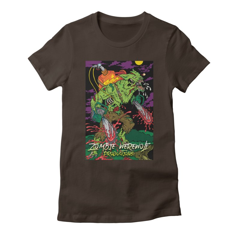 Zombie Werewolf Productions Women's Fitted T-Shirt by Poisoning the Well Swag Shop
