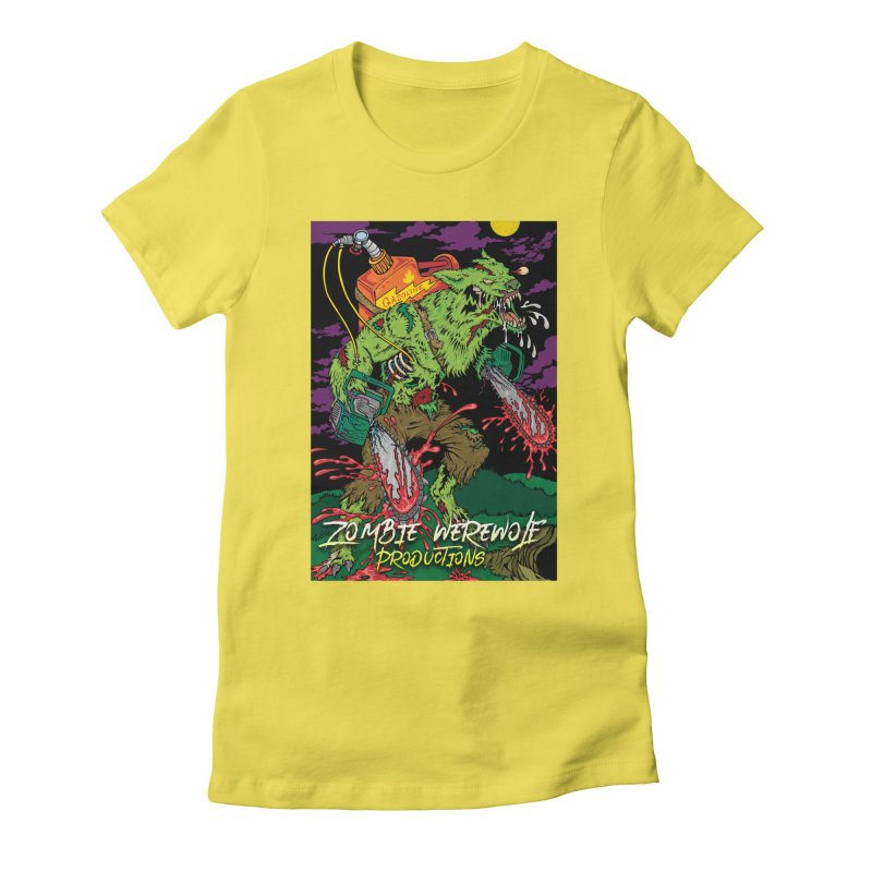 The Zombie Werewolf Women's Fitted T-Shirt by Poisoning the Well Swag Shop