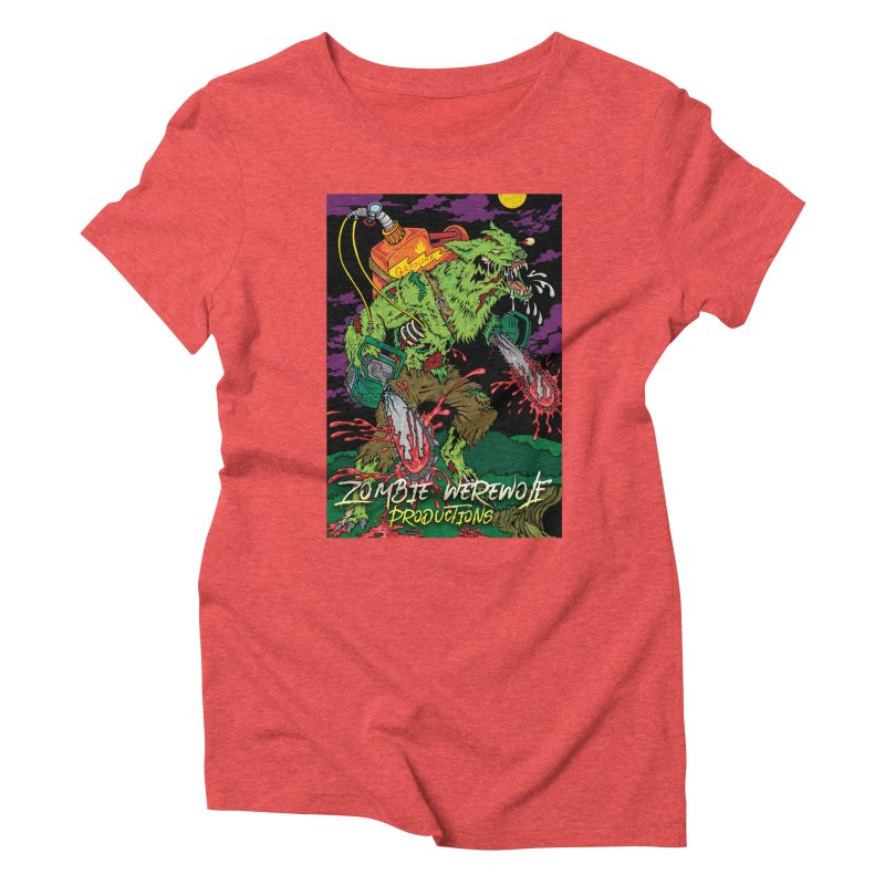The Zombie Werewolf Women's Triblend T-Shirt by Poisoning the Well Swag Shop