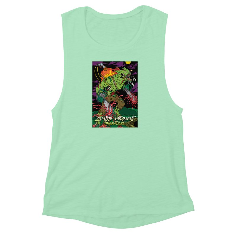 The Zombie Werewolf Women's Muscle Tank by Poisoning the Well Swag Shop