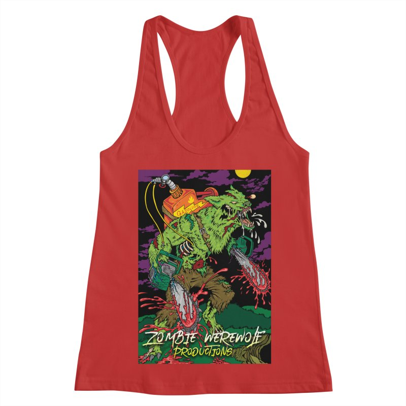 The Zombie Werewolf Women's Racerback Tank by Poisoning the Well Swag Shop
