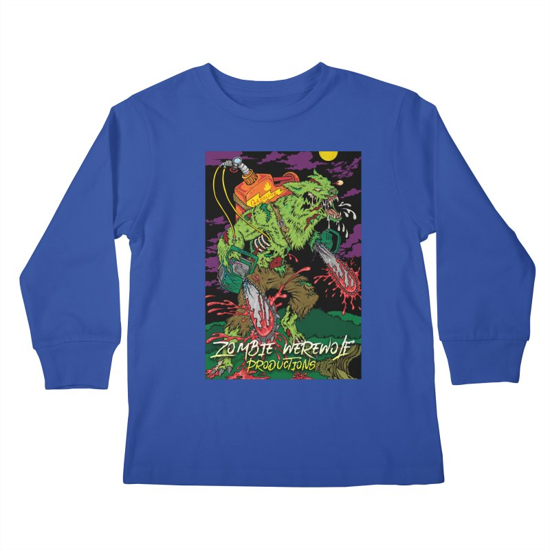Zombie Werewolf Productions Kids Longsleeve T-Shirt by Poisoning the Well Swag Shop