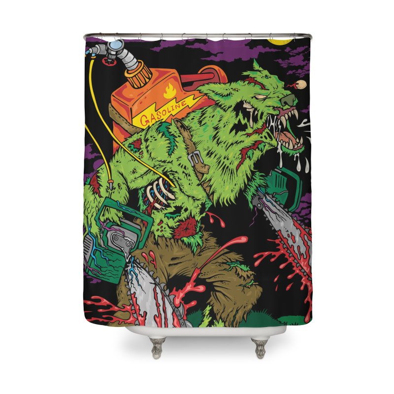 The Zombie Werewolf Home Shower Curtain by Poisoning the Well Swag Shop