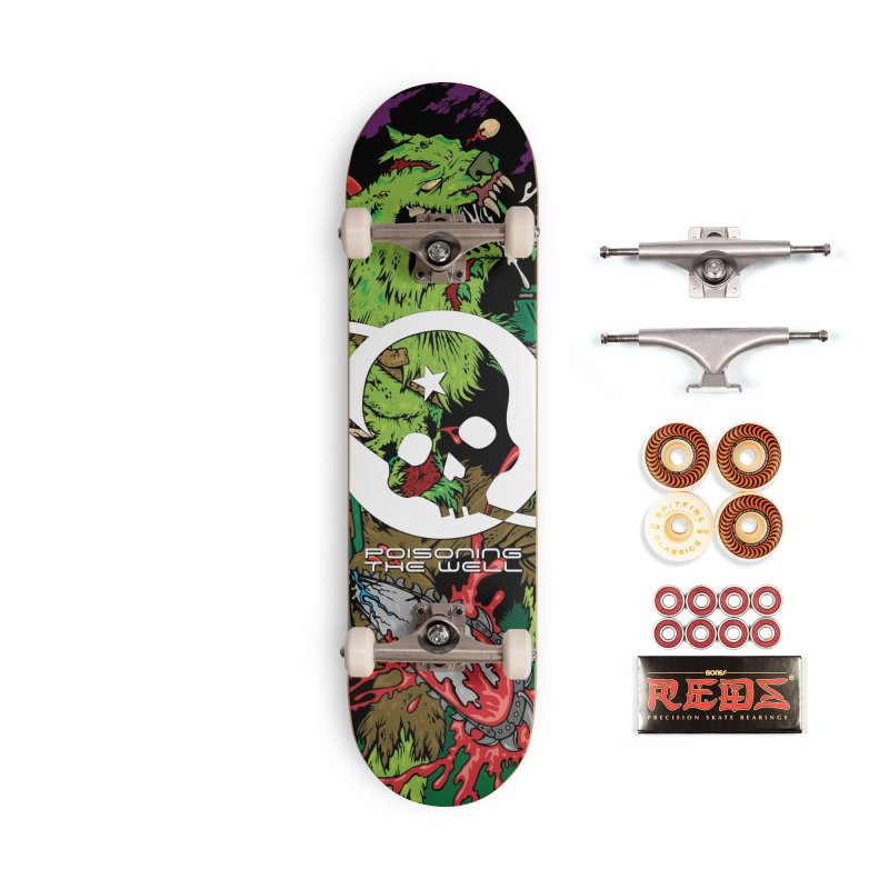The Zombie Werewolf Accessories Skateboard by Poisoning the Well Swag Shop