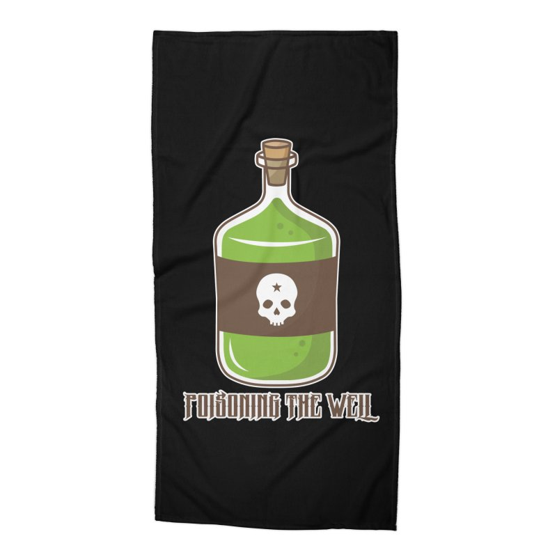 Classic Bottle of Poison Accessories Beach Towel by Poisoning the Well Swag Shop