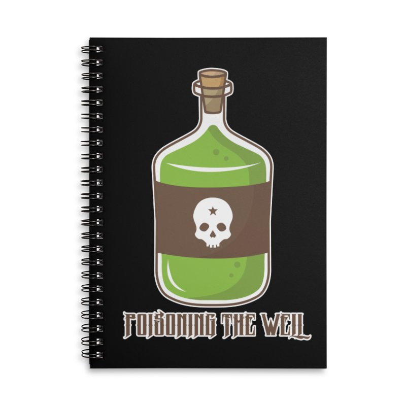 Classic Bottle of Poison Accessories Lined Spiral Notebook by Poisoning the Well Swag Shop