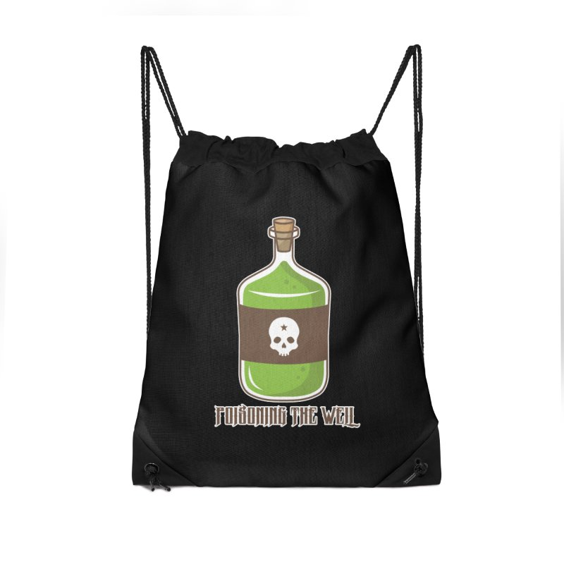Classic Bottle of Poison Accessories Drawstring Bag Bag by Poisoning the Well Swag Shop