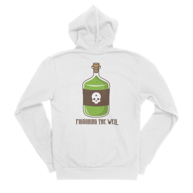 Classic Bottle of Poison Logo Men's Sponge Fleece Zip-Up Hoody by Poisoning the Well Swag Shop