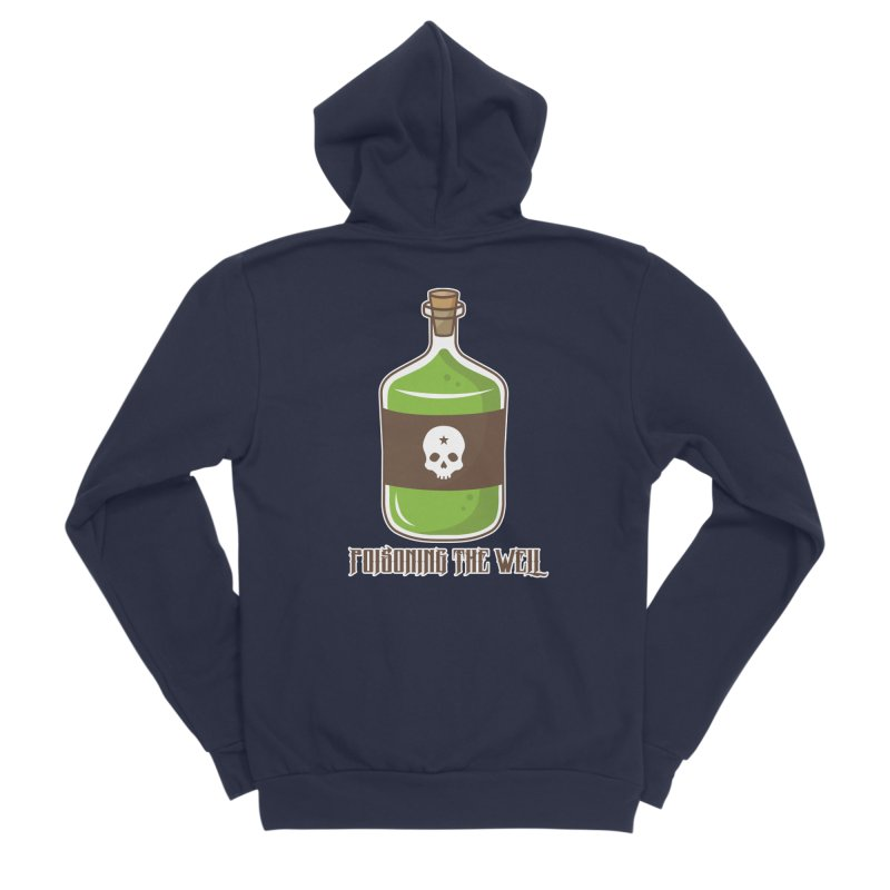 Classic Bottle of Poison Logo Women's Sponge Fleece Zip-Up Hoody by Poisoning the Well Swag Shop