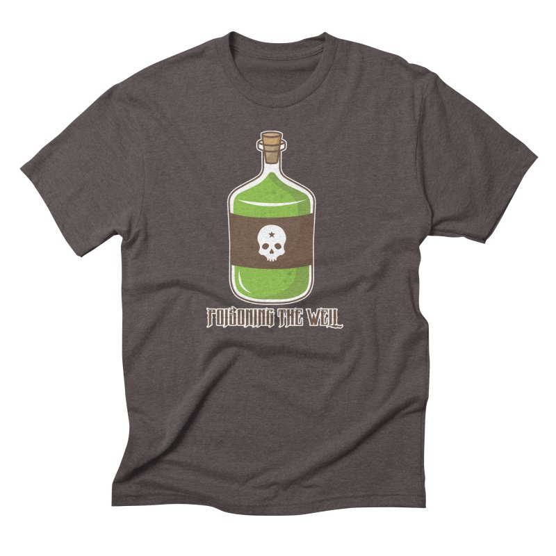 Classic Bottle of Poison in Men's Triblend T-Shirt Tri-Coffee by Poisoning the Well Swag Shop