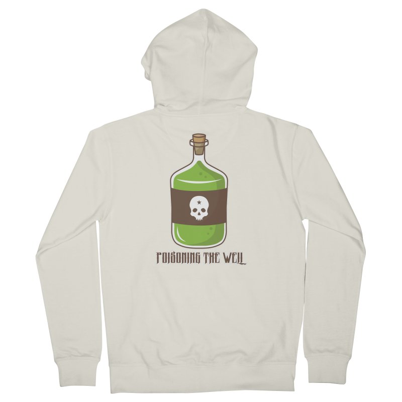 Classic Bottle of Poison Logo Women's French Terry Zip-Up Hoody by Poisoning the Well Swag Shop