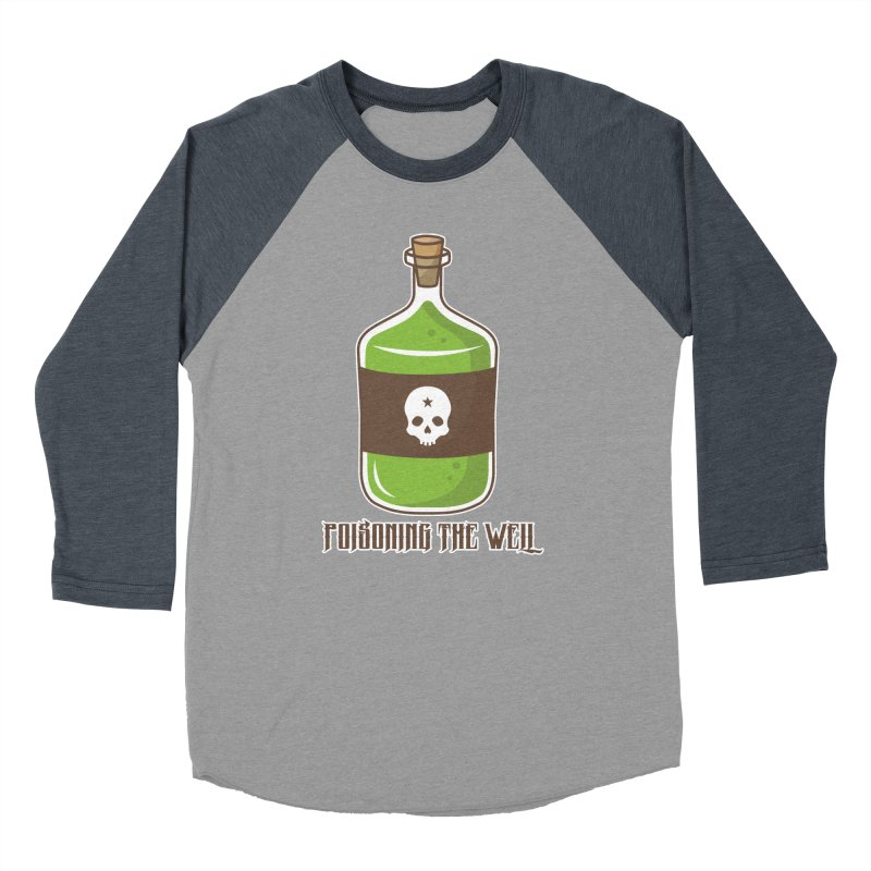 Classic Bottle of Poison Logo Men's Baseball Triblend Longsleeve T-Shirt by Poisoning the Well Swag Shop