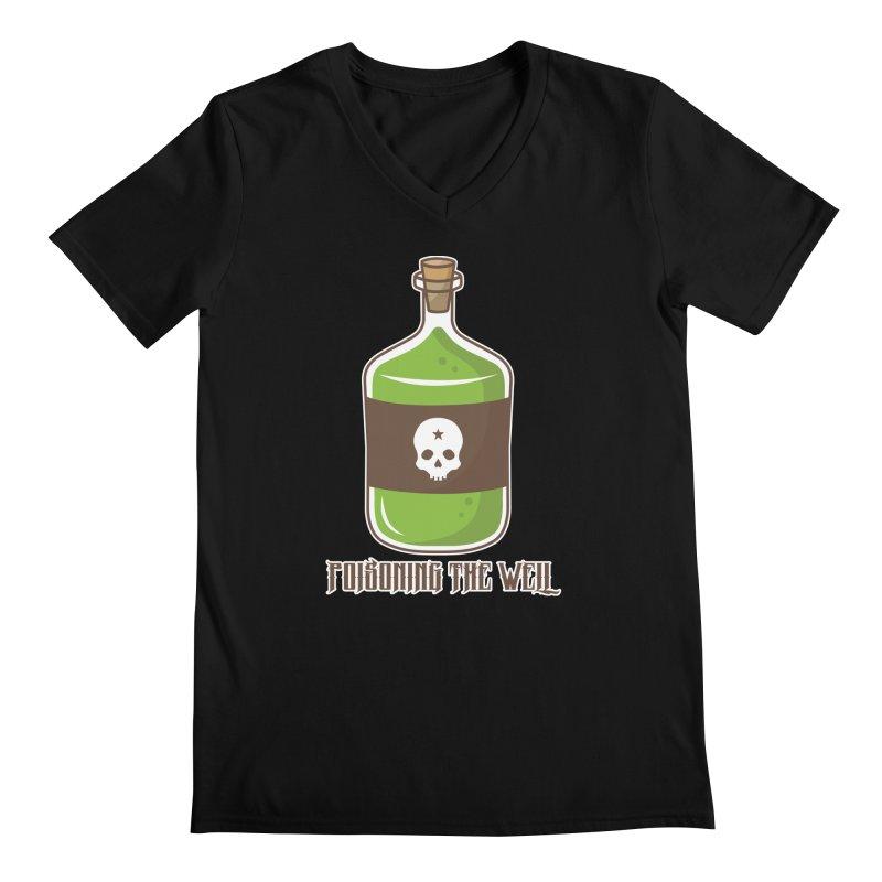 Classic Bottle of Poison Logo Men's Regular V-Neck by Poisoning the Well Swag Shop