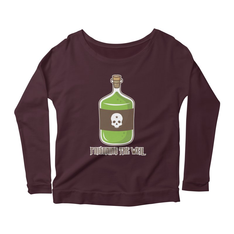 Classic Bottle of Poison Women's Scoop Neck Longsleeve T-Shirt by Poisoning the Well Swag Shop
