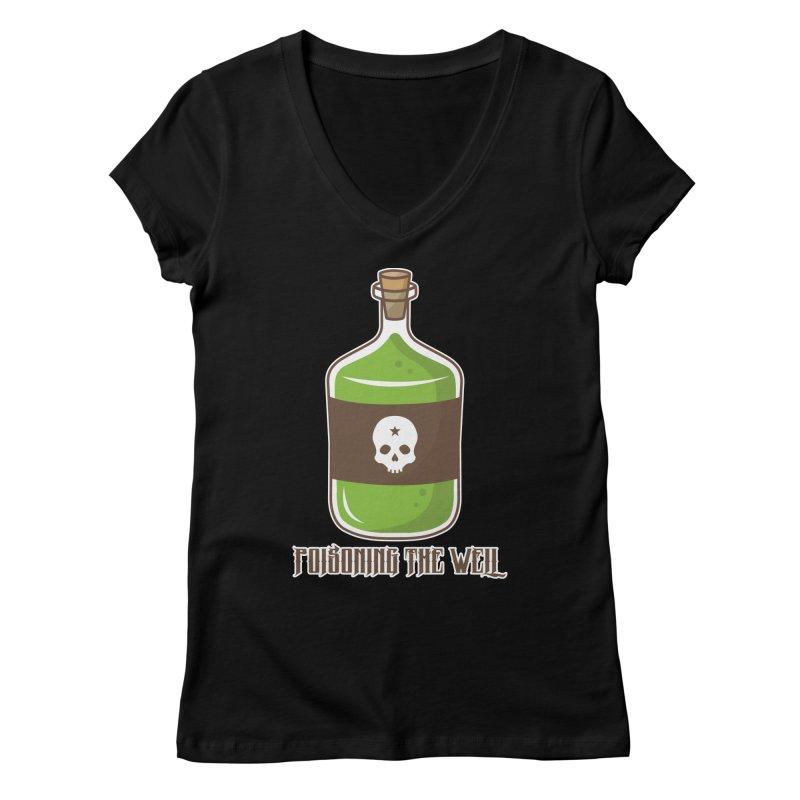 Classic Bottle of Poison Logo Women's Regular V-Neck by Poisoning the Well Swag Shop