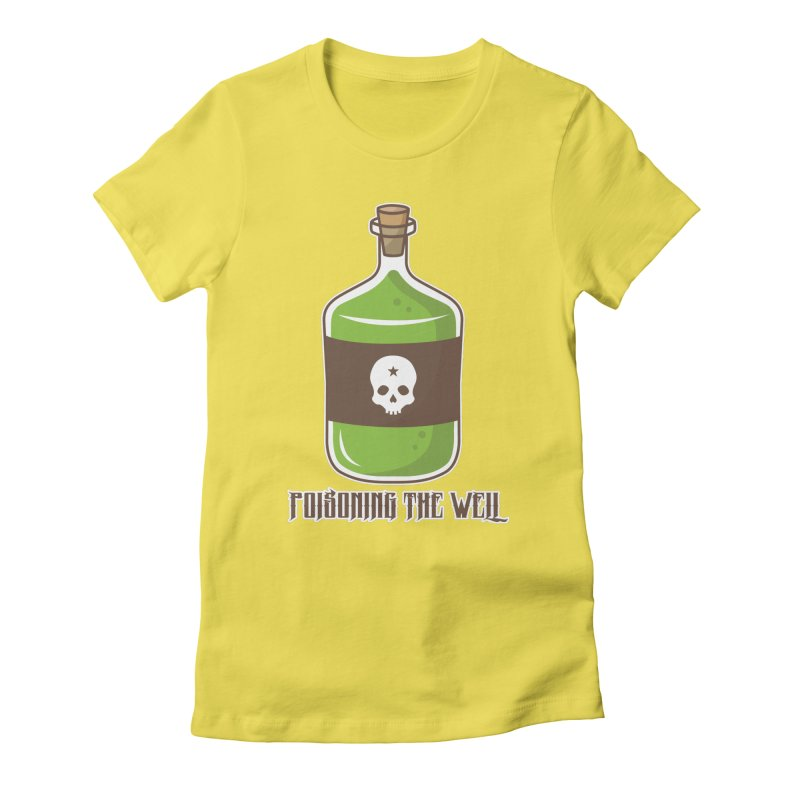 Classic Bottle of Poison Logo Women's Fitted T-Shirt by Poisoning the Well Swag Shop