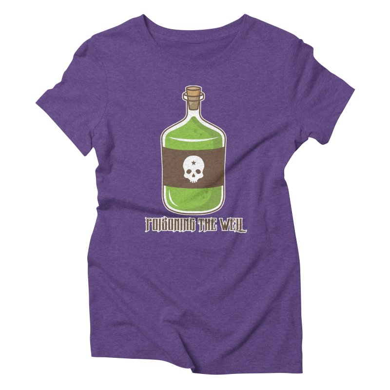 Classic Bottle of Poison Logo Women's Triblend T-Shirt by Poisoning the Well Swag Shop