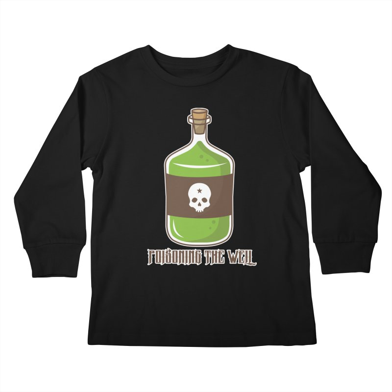 Classic Bottle of Poison Logo Kids Longsleeve T-Shirt by Poisoning the Well Swag Shop