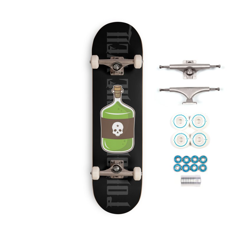 Classic Bottle of Poison Accessories Skateboard by Poisoning the Well Swag Shop