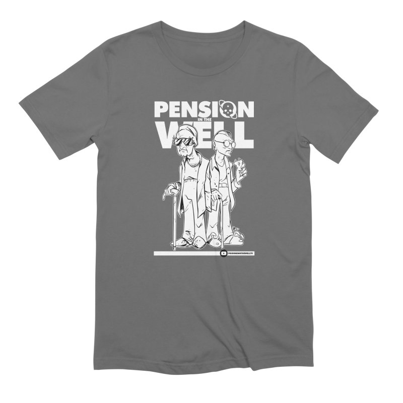 Pension in the Well (White Print) Men's Extra Soft T-Shirt by Poisoning the Well Swag Shop