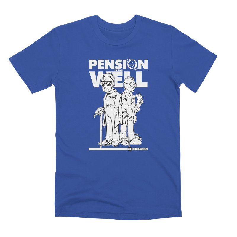 Pension in the Well (White Print) Men's Premium T-Shirt by Poisoning the Well Swag Shop