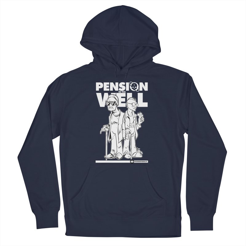 Pension in the Well (White Print) Men's French Terry Pullover Hoody by Poisoning the Well Swag Shop