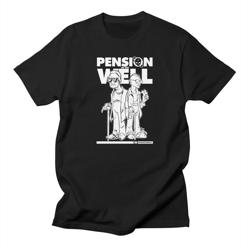 Pension in the Well (White Print) Women's Regular Unisex T-Shirt by Poisoning the Well Swag Shop