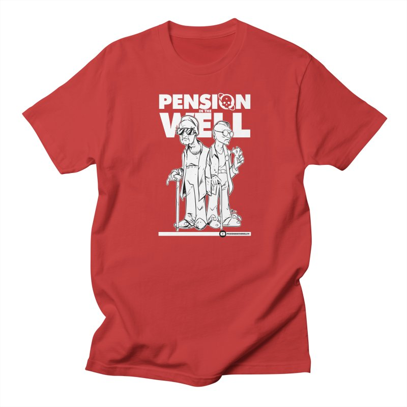 Pension in the Well (White Print) Men's Regular T-Shirt by Poisoning the Well Swag Shop