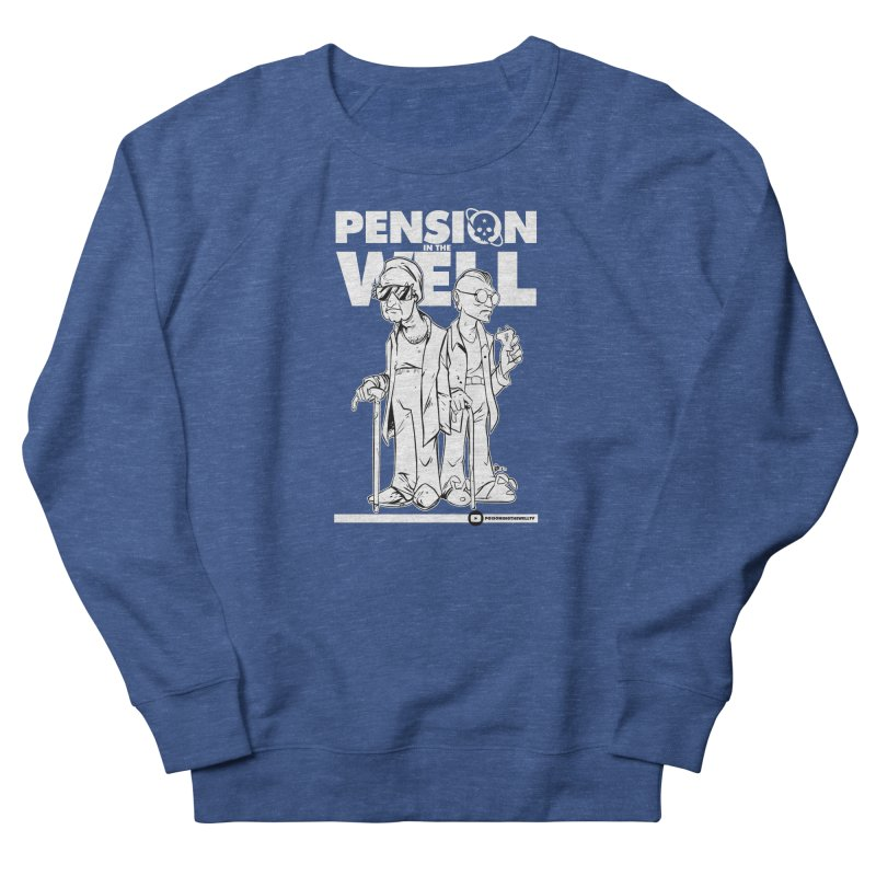 Pension in the Well (White Print) Women's French Terry Sweatshirt by Poisoning the Well Swag Shop