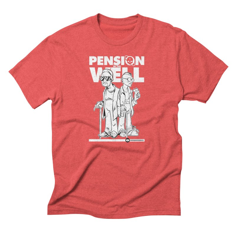 Pension in the Well (White Print) Men's Triblend T-Shirt by Poisoning the Well Swag Shop